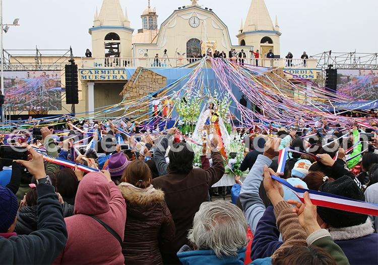 Fiesta de la Tirana, début de la procession