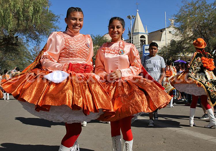 Portrait de danseuses de l'altiplano andin