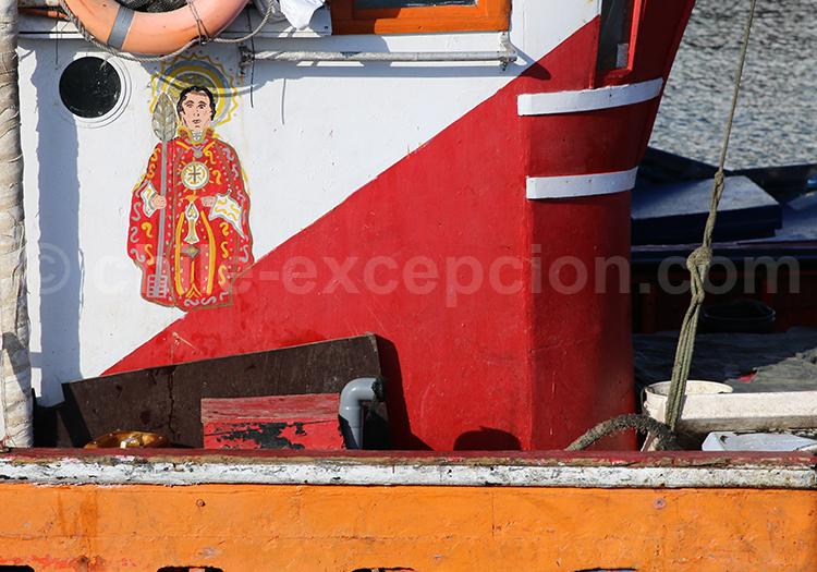 Peinture sur bateau