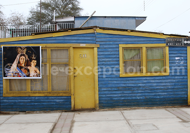 Maison colorée à Iquique