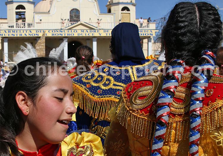 Fête religieuse à Iquique, Nord du Chili