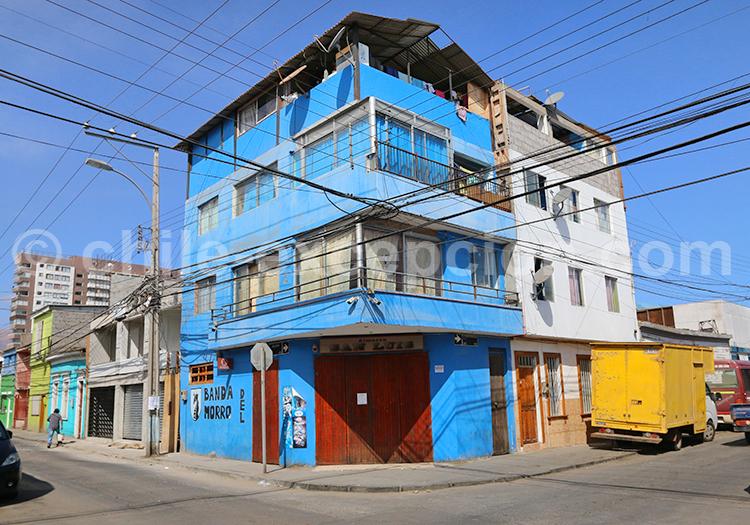 Les galeries d'Iquique, Nord du Chili