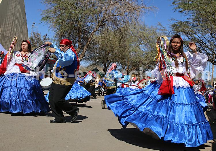 Cortège de danseurs, Fiesta de la Tirana