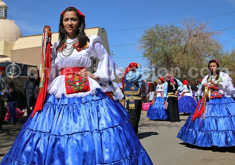 Danseuse traditionnelle, Désert du Chili