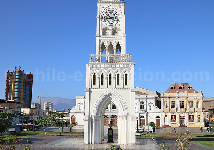La grande horloge d'Iquique, Chili