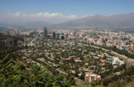 Vue aérienne sur Santiago