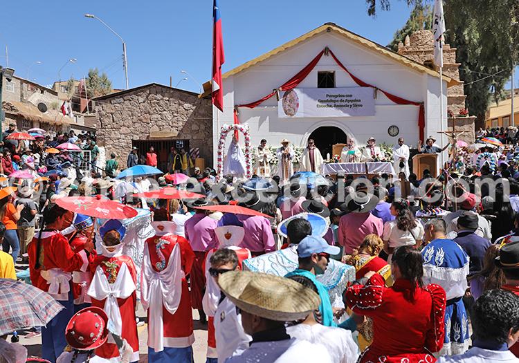 Procession de la vierge d'Ayquina, Chili
