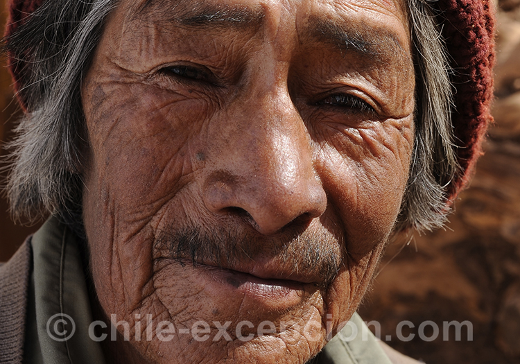 Portrait d'un vieil homme au Chili