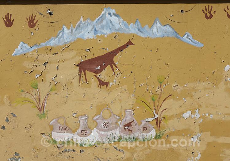 Peinture murale au Chili avec l'agence de voyage Chile Excepción