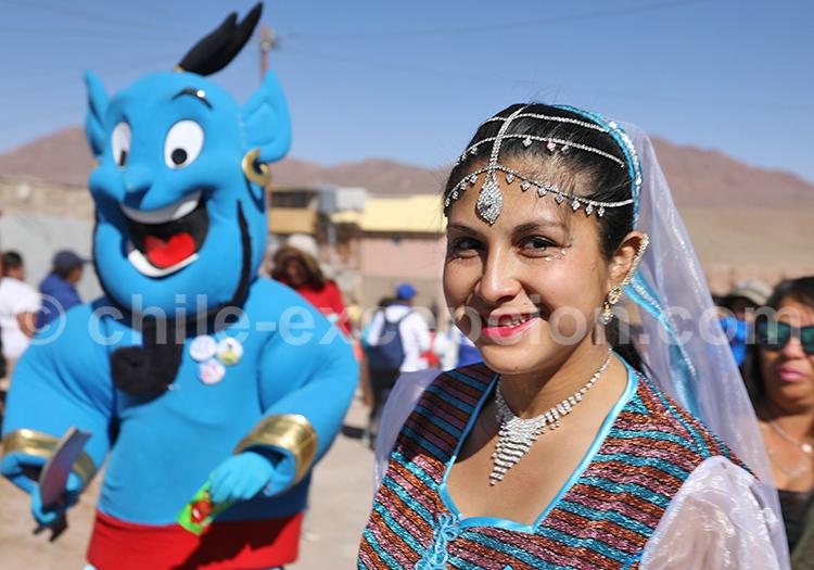 Population en fête, Nord du Chili