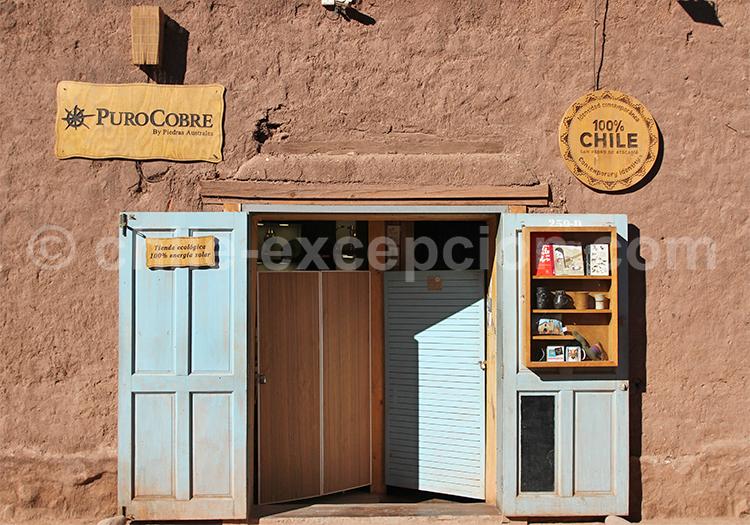 Boutique de souvenirs en cuivre, Atacama