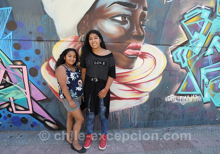 Portrait sur mur peint, Chili avec l'agence de voyage Chile Excepción