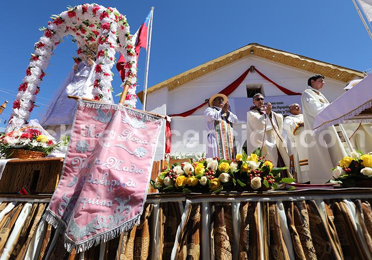 Messe à Ayquina, commune de Calama, Nord du Chili