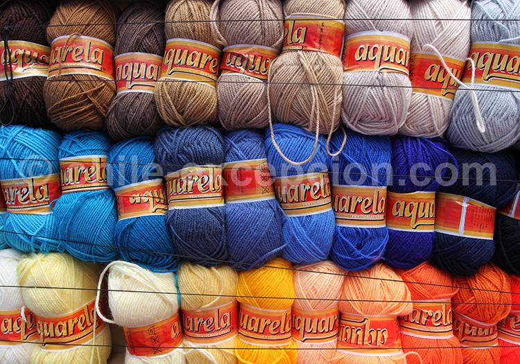 Couleurs, laine de lama teintée