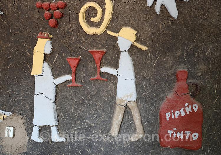 Dessin de dégustation de vin avec l'agence de voyage Chile Excepción