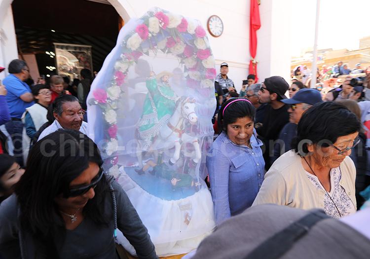Défilé religieux, vierge d'Ayquina, Calama