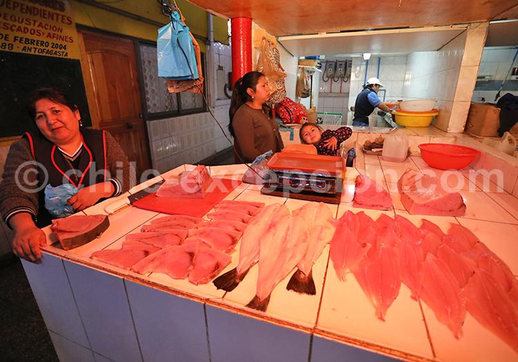 Marché aux poissons, Santiago de Chile