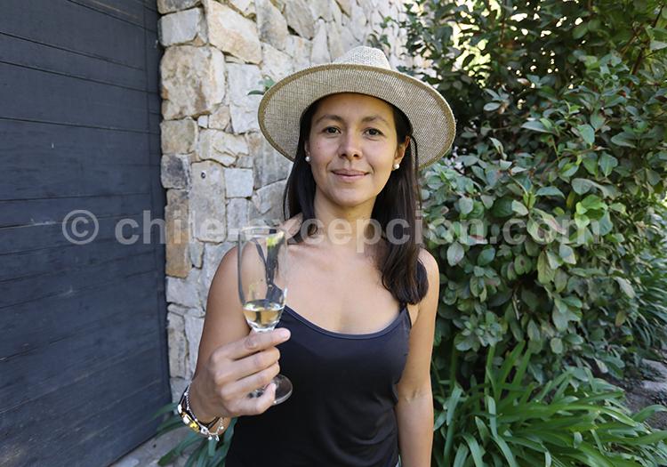 Dégustation de vin blanc, centre du Chili