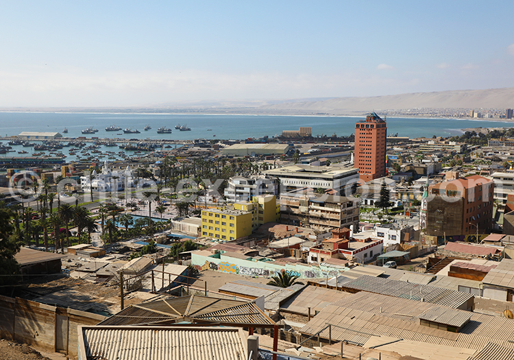 Arica, ville portuaire du Nord du Chili