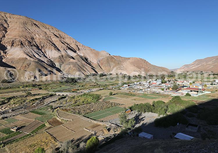Vallée dans le Nord du Chili