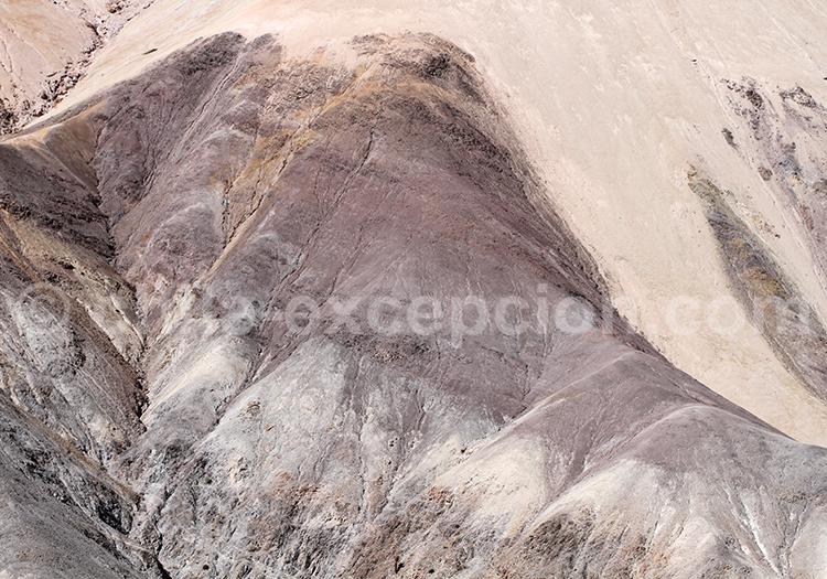 Couches de roches, nature du Chili