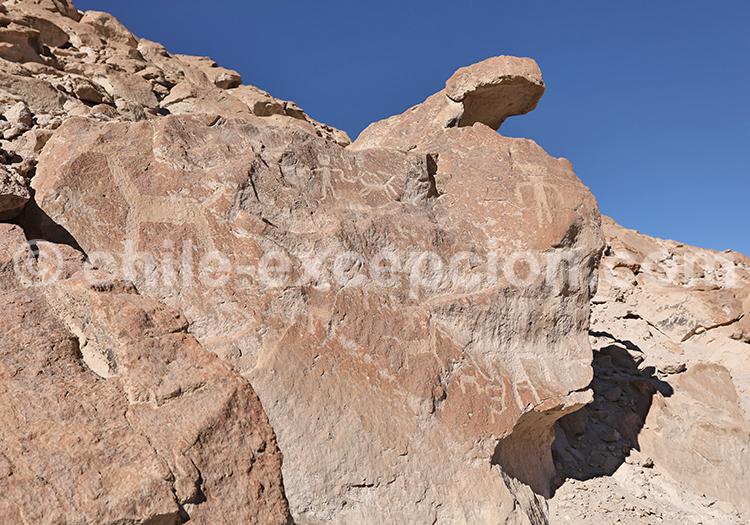 L'histoire des roches dans le désert du Chili