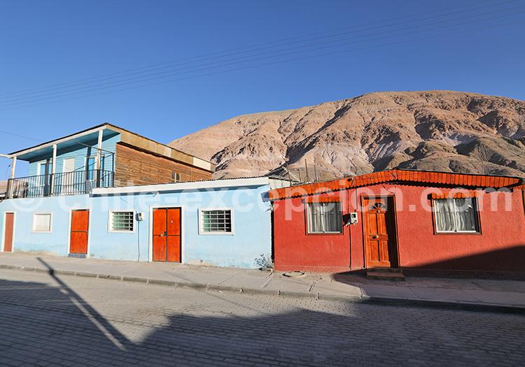 Maisons à Camiña, Nord du Chili