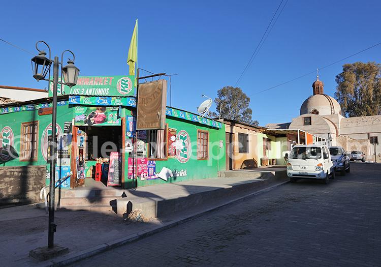 Rues des villages de Pica et Matilla, Chili