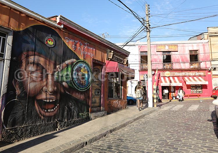 Street Art, quartier touristique de Valparaiso