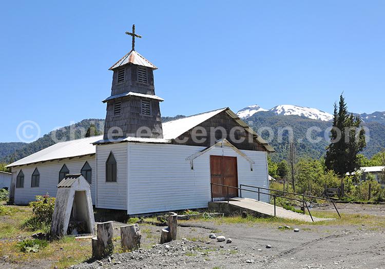 La région des lacs et volcans, Chili