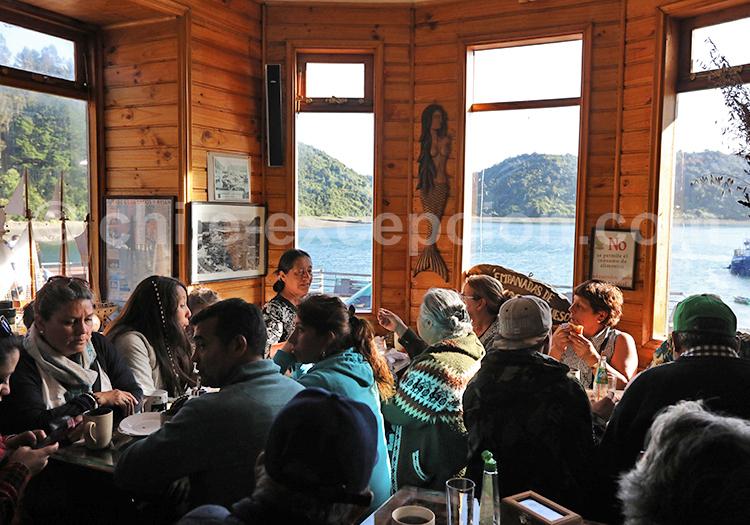 Restaurant du marché d'Angelmó, Puerto Montt
