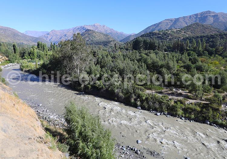 Río Maipo, Cajon de Maipo, Chil