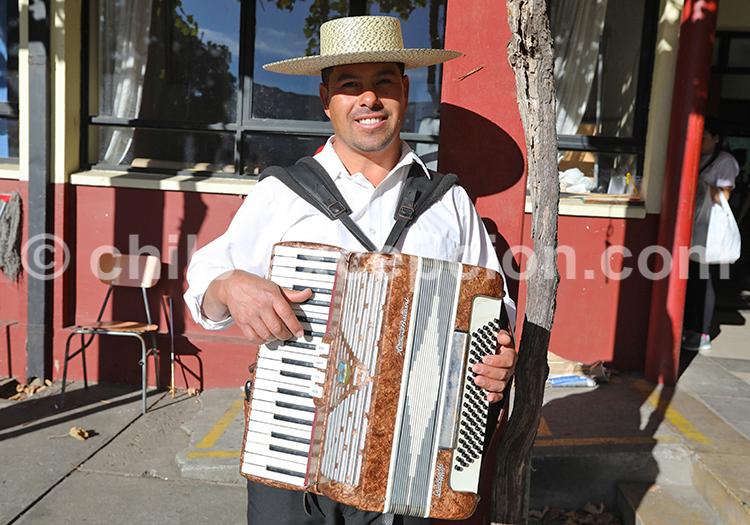 Musicien, centre du Chili