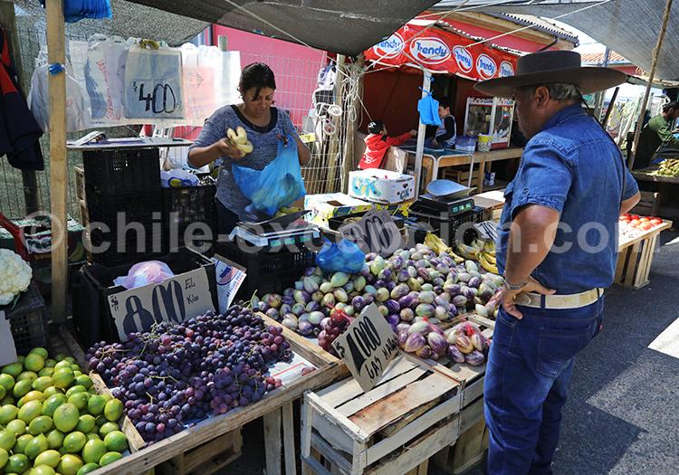 Marché aux fruits de Chanco, Chili