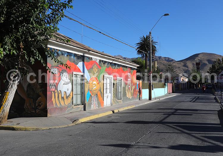 Rues du village de Vicuña, Chili