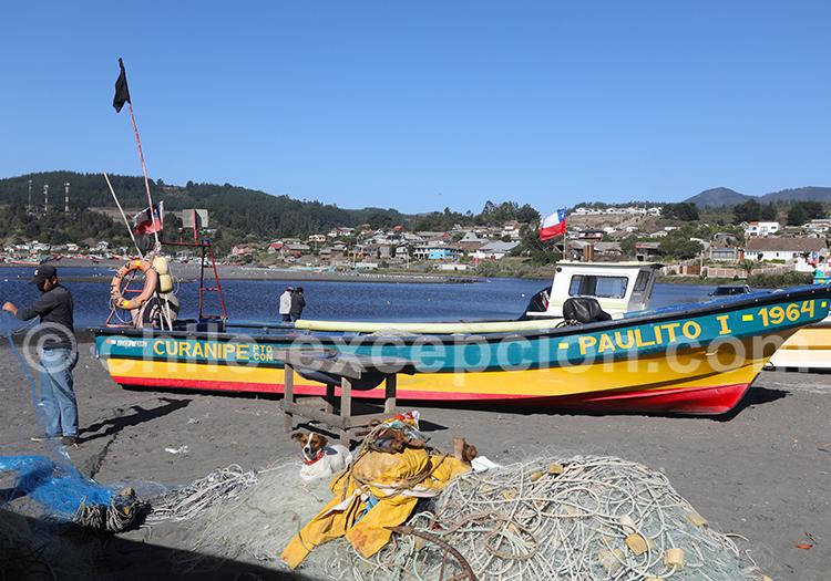Curanipe, ville maritime du Chili