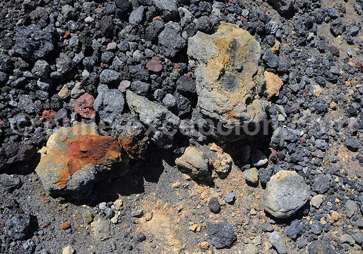 Pierre volcanique du Chili