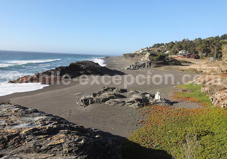 Bord de plage, Pelluhue, Chili