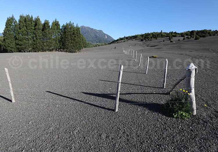 Sable volcanique, volcan Calbuco