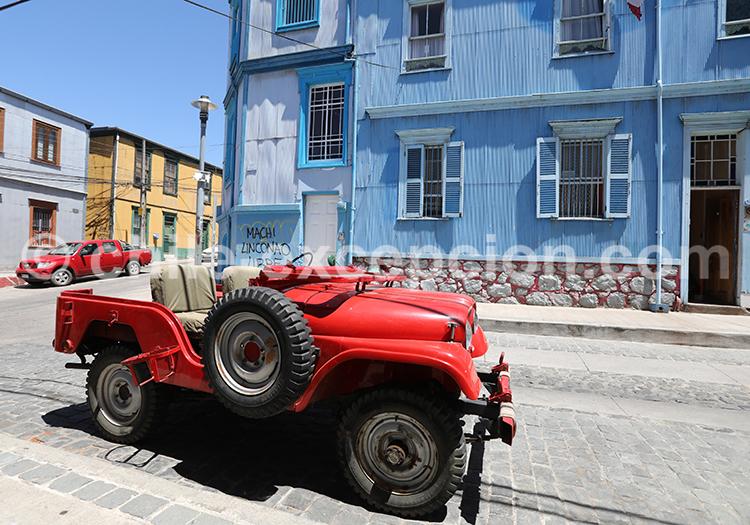 Visite avec guide francophone du Cerro Alegre, Valparaiso