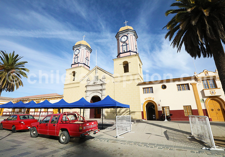 La plus vieille église de Andacollo, Chili
