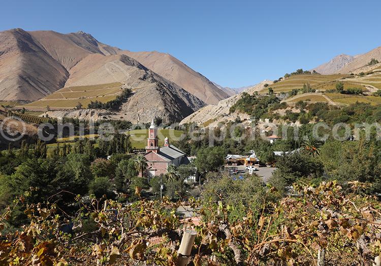 Tourisme de vignobles, village de Monte Grande, Chili