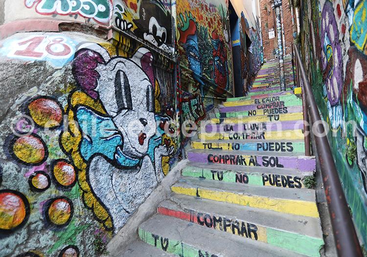 Les escaliers mythiques du Cerro Concepción, Valparaiso