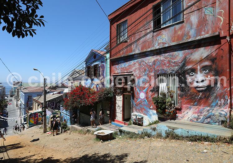 Cerro Concepción, ville artistique de Valparaiso