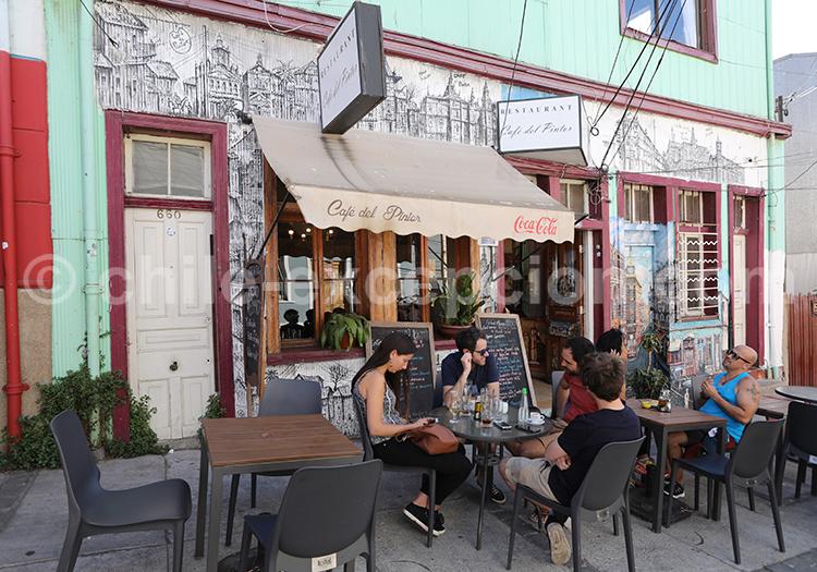 Café del pintor, Cerro Concepción, Valparaiso
