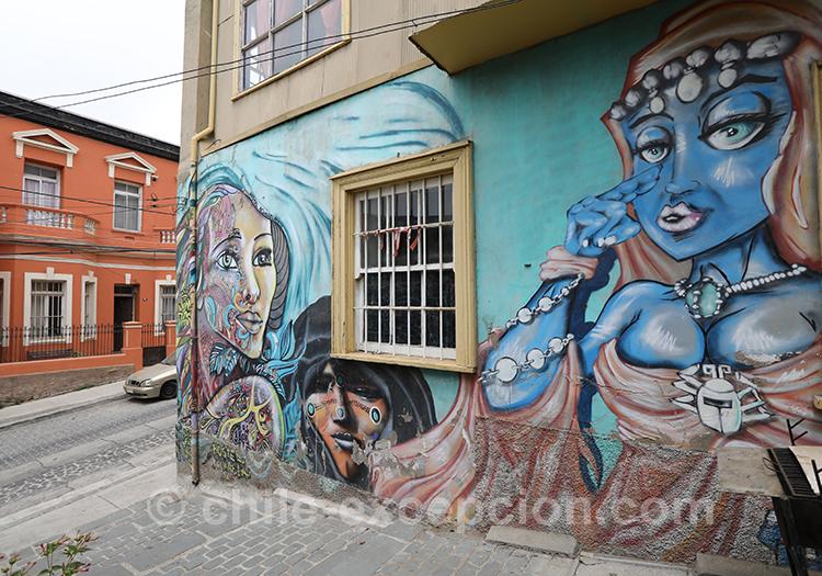 Murs originaux de Valparaiso, Chili