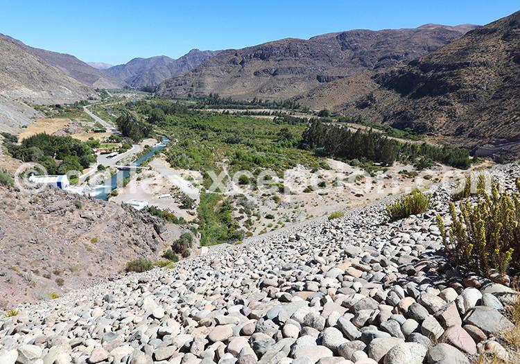 Barrage de Puclaro, Nord du Chili