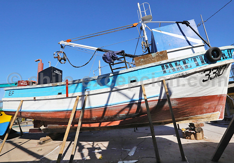 Bateau de pêche, Chili