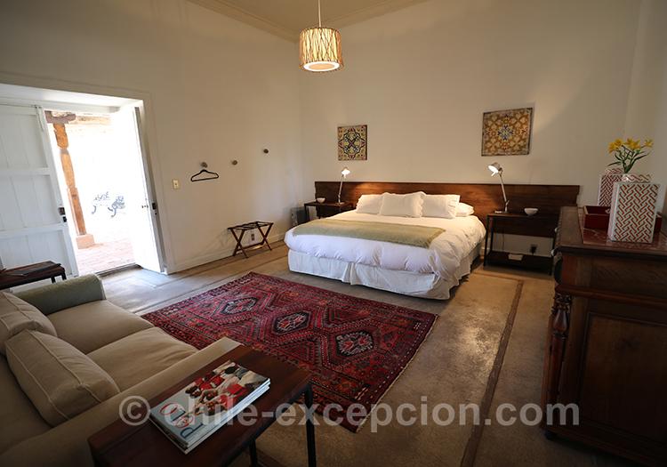 Chambre de l'hôtel Casa Bouchon, Chili avec l'agence de voyage Chile Excepción