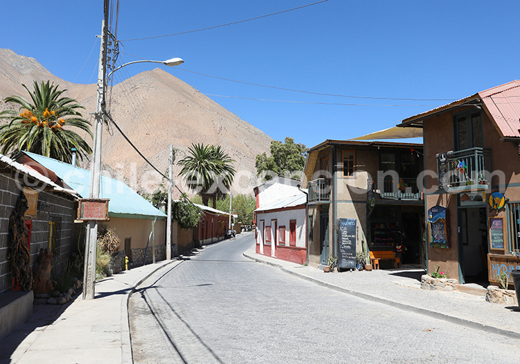 Village Pisco, Vallée de l'Elqui, Nord du Chili